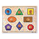 Melissa & Doug Geometric Shapes Large Peg…