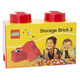 Lego Storage Brick in Red with 2 knobs