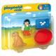Playmobil 1.2.3 Girl With Dog