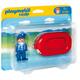 Playmobil 1.2.3 Man with Water Raft