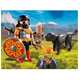 Playmobil Barbarian with Dog at Campfire