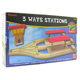 Toys for Play Wooden Railroad 3 Ways Station