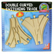Toys for Play Wooden Railroad Double Curved…